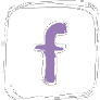 Icon Fbook white and pale purple