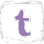 Icon Twitter white and pale purple
