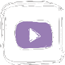 Icon YouTube white and pale purple